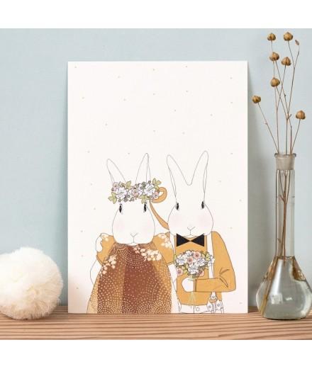 Affiche Les mariés - Format A4