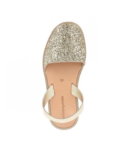 Sandales Oro Paillettes