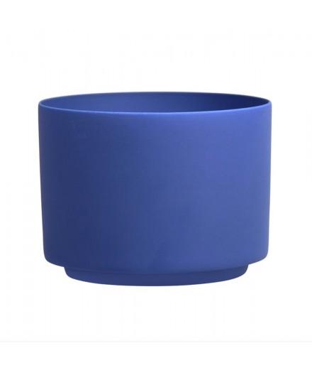 Photophore en porcelaine - bleu