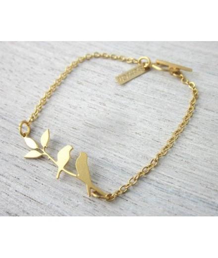 Bracelet Lovebird - Doré