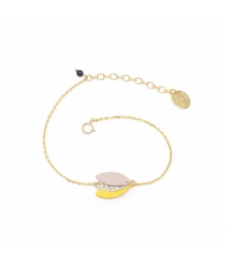 Bracelet Orne - Jaune, lilas, glitter