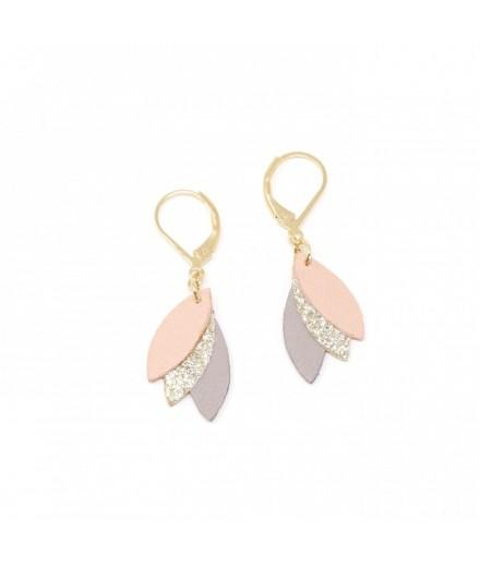 Boucles d'oreilles - Argile, terracotta, glitter