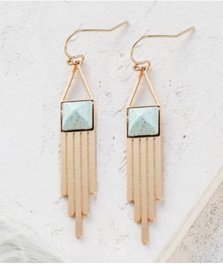 Boucles d'oreilles Nadya - turquoise