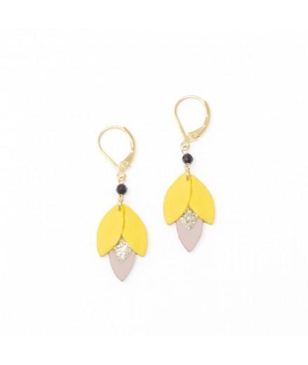 Boucles d'oreilles Narva - Canari, glitter, lilas