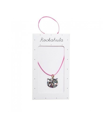 Collier chat paillettes