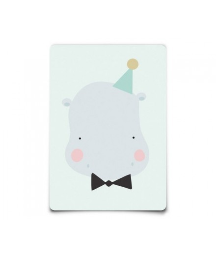 Carte postale Happy Animals - Happy hippo