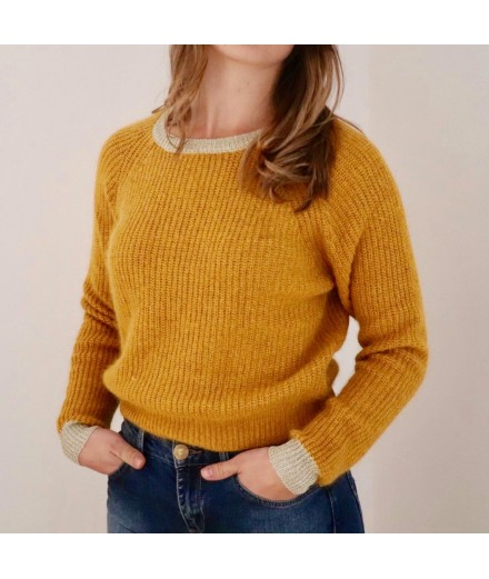 Pull Alric - Moutarde et or