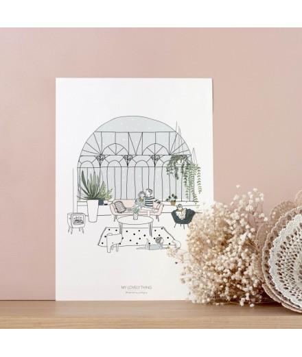 Affiche Jardin d'hiver - Format A4