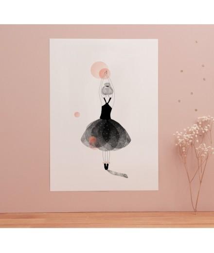 Affiche Ballerine - Format A4