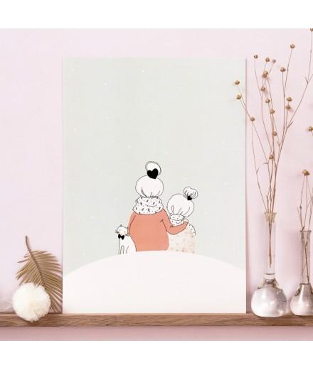 Affiche Sous la neige Fille - Format A4