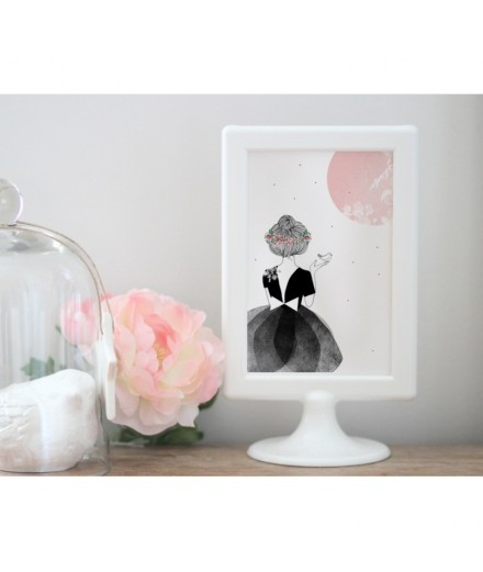 Carte postale La danseuse et l'oiseau