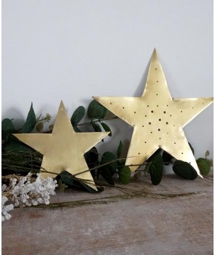 Petite étoile perforée - Dorée