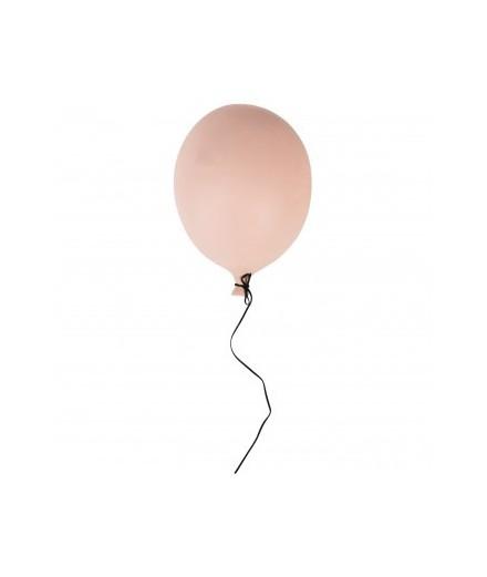 Ballon en céramique à suspendre - rose matte