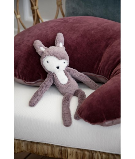 Peluche lapin - vieux rose