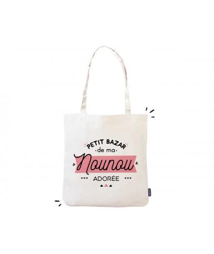 "Tote bag ""Petit bazar de ma nounou adorée"""