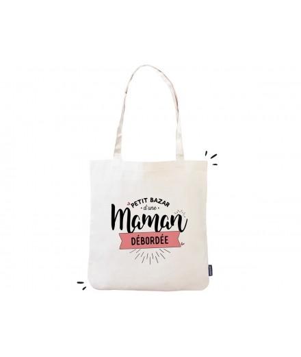 """Tote bag """"Petit bazar d'une maman débordée"""""""