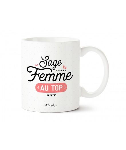 "Mug ""Sage femme au top"""