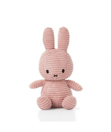 Peluche Miffy en velour côtelé - Rose