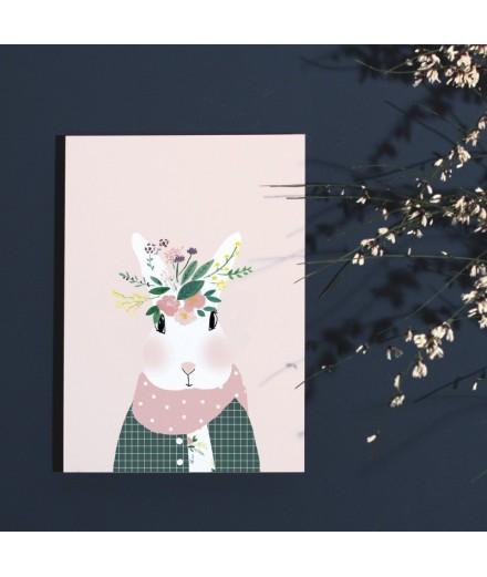 Affiche Joséphine aux fleurs - Format A4