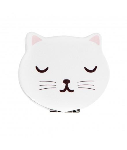 Miroir de poche Chat blanc