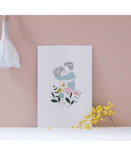 Carte postale Les Amoureux