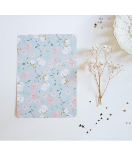 Carte postale motif floral ciel