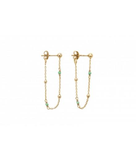 Boucles d'oreilles Goa - Vert