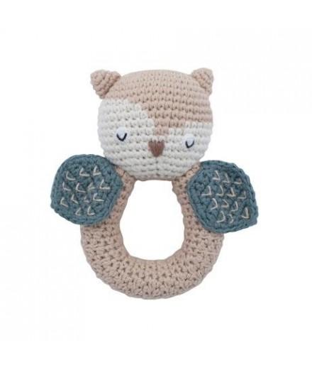 Hochet en crochet - Hibou