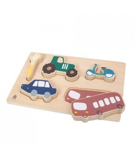 Puzzle en bois - Voitures