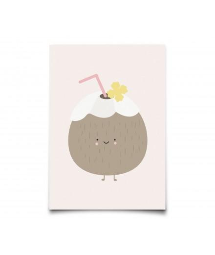 Carte postale Noix de Coco