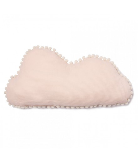 Coussin nuage Marshmallow pompons - Dream Pink