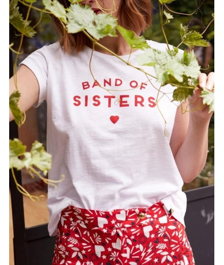 T-shirt Band of sisters - jersey de coton