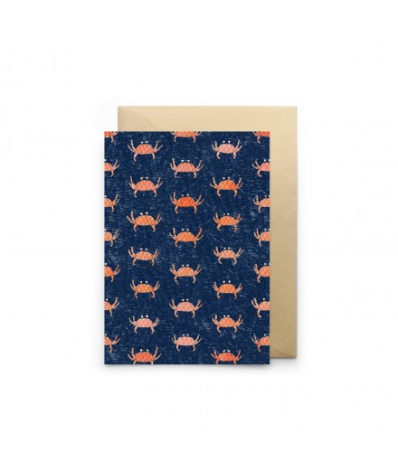 Carte double - Crabes bleus