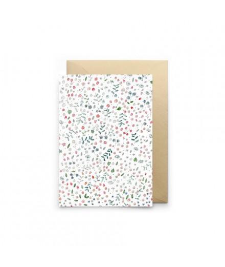 Carte double - Printemps blanc
