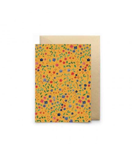 Carte double - Russe jaune