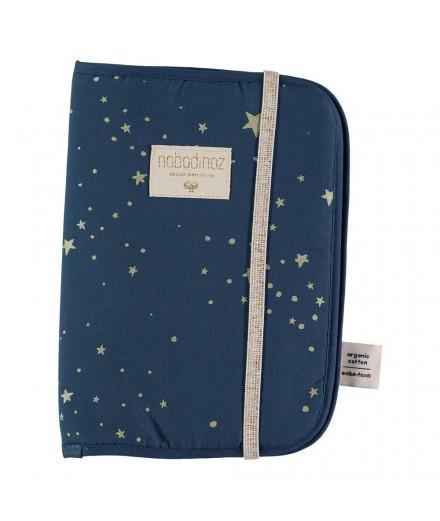 Protège carnet de santé - Gold Stella Night Blue