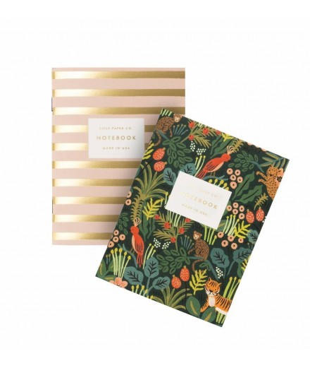 Set de 2 notebooks de poche Jungle