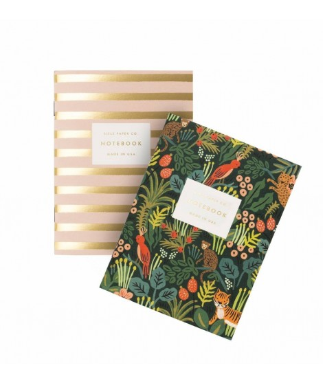 Set de 2 notebooks de poche Jungle