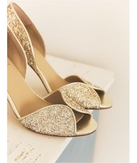 Escarpins La Samba - Pluie dorée