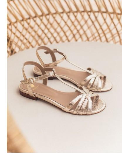 Sandales La Merveille - Doré craquelé