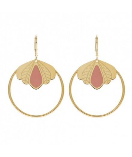 Boucles d'oreilles Chloé - rose