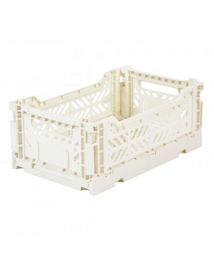 Caisse pliable petit format - Blanc cassé