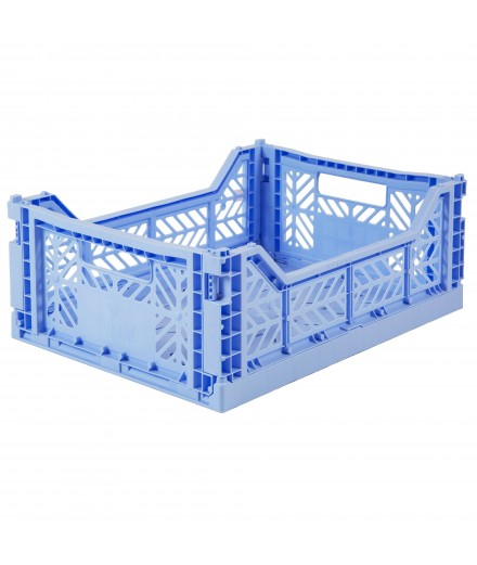 Caisse pliable format moyen - Bleu