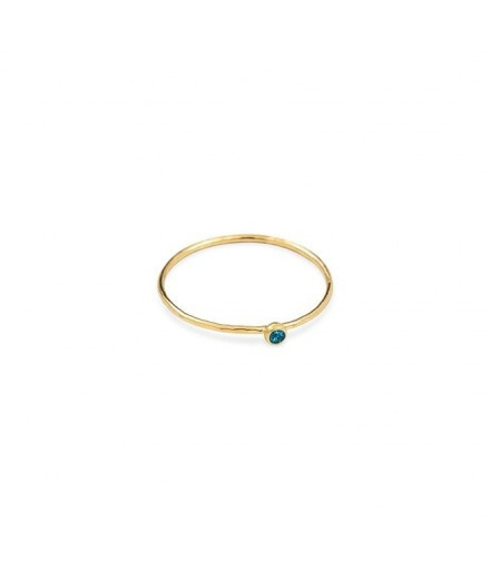 Bague Orient simple - Blue zircon