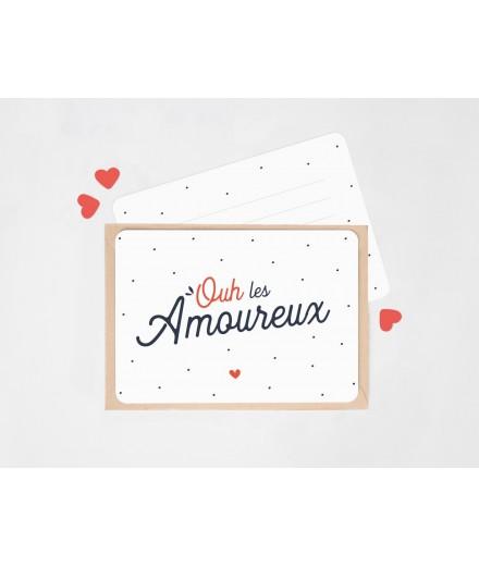 """Carte """"Ouh les amoureux"""