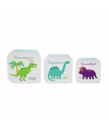 Set de trois boîtes à gouter Dino