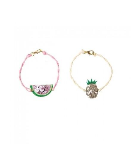 Set bracelets pastèque ananas