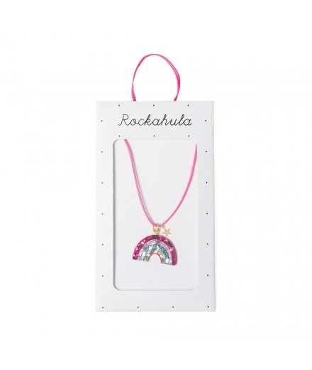 Collier arc-en-ciel paillettes