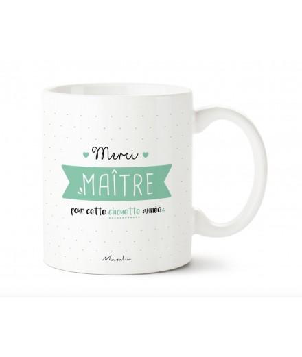 """Mug """"Merci Maître pour cette chouette année"""""""