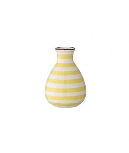 vase Patrizia - rayé jaune
